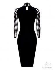 robe soirée noir solange arriere