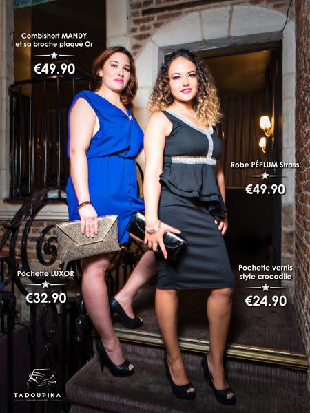 tadoupika boutique luxe lookbook decembre 2014 combishort robe peplum