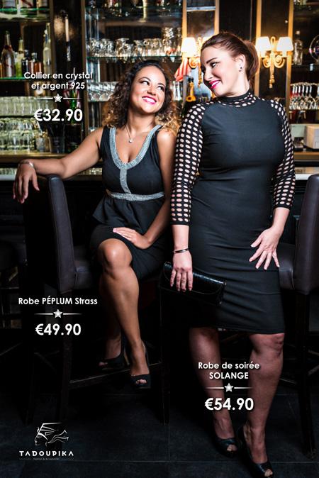 tadoupika boutique luxe lookbook decembre 2014 laetitia ponama robe peplum strass solange