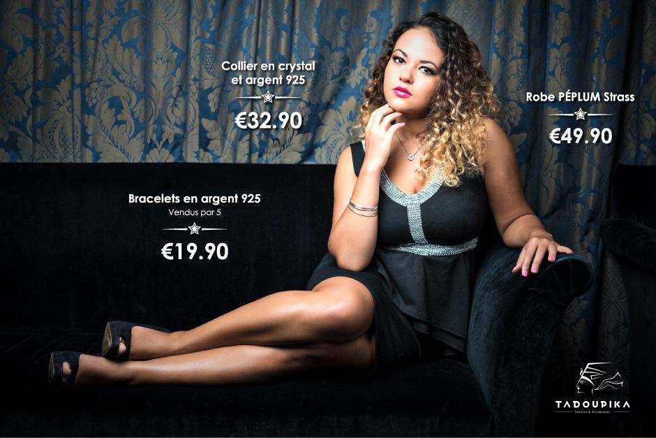 tadoupika boutique luxe lookbook decembre 2014 combishort robe peplum strass bijoux