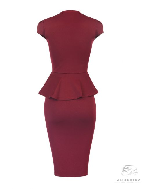 robe-peplum-working-girl-rouge-dos