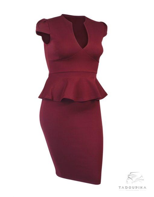 robe-peplum-working-girl-rouge-xl-tiers