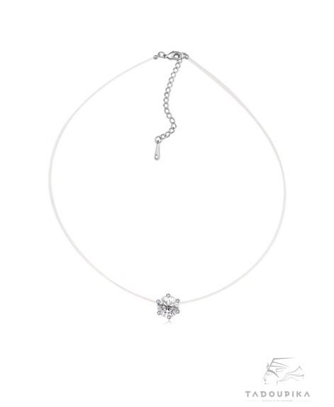collier choker chocker necklace solitaire cristal zircon tadoupika-min