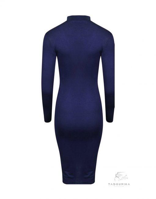 robe ras de cou ines bleu marine 3