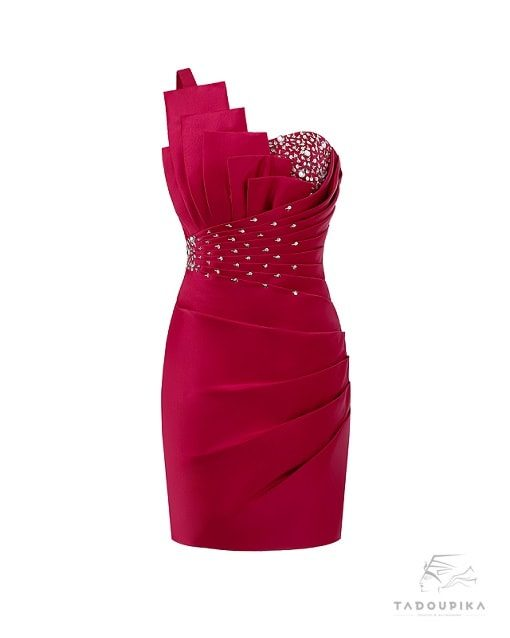 robe-de-cocktail-courte-satin-sur-mesure-strass-plissé-luxe-sur-mesure-dress-women-mode-Tadoupika-min