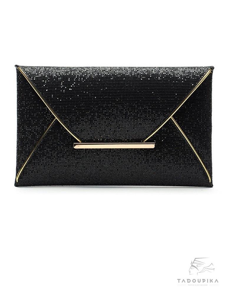 2 clutch bag evening bag sac luxor noir paillette glitter enveloppe sac de soirée cocktail tadoupika