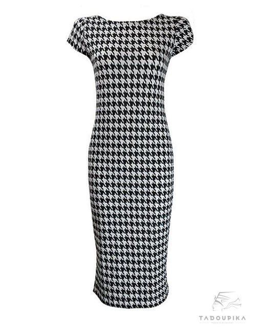 robe pieds de poule monochrome short sleeves plus size dress bodycon short sleeves dress midi dress midi dress + france tadoupika