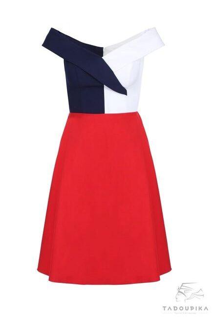 robe Brigitte Macron first laday coctkail dress elegance garden party glamour dress bardot dress sur mesure mode femme french designer mode toutes les tailles white dress tadoupika