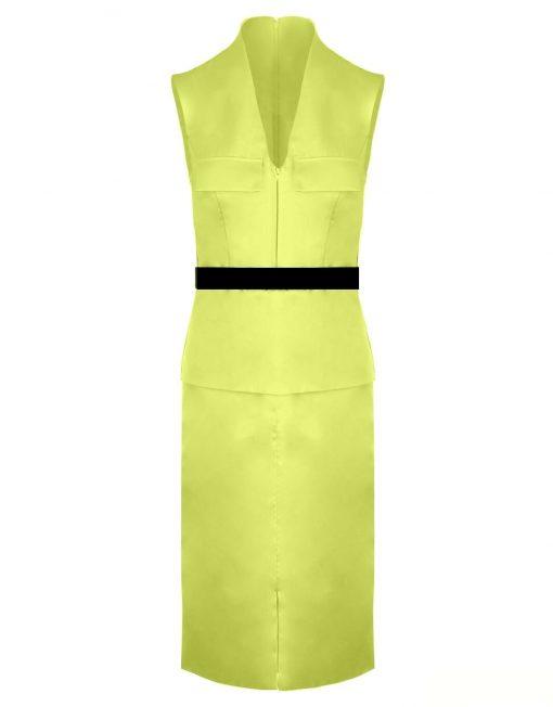 robe-workin-girl-belt-dress-lenght-to-knee-satin-dress-office-dress-made-in-france-curves-sur-mesure-yellow-dress-contrast-dress-illusion-dress-tadoupika-m