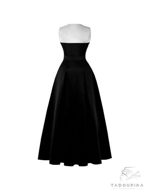 women plus size evening dress mesh dress satin dress robe de soirée plunge v neck dos deep v neck tadoupika