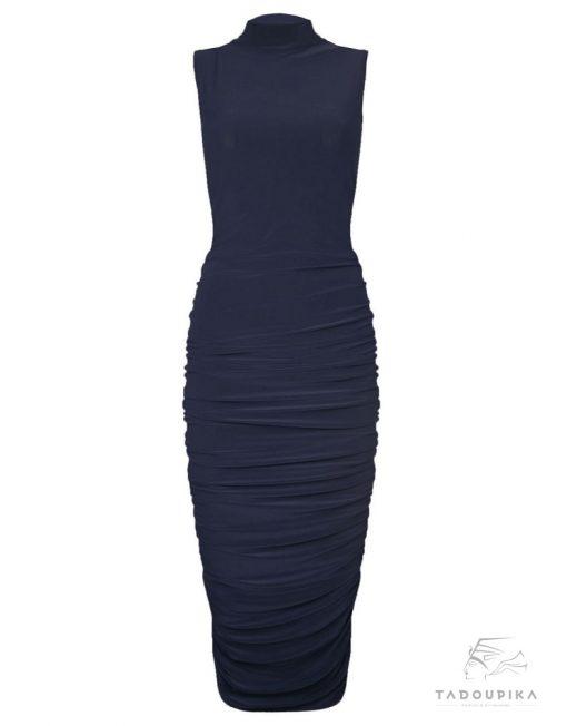 Robe moulante plissée longueur genoux plus size dress pleated dress office dress mode femem france tadoupika