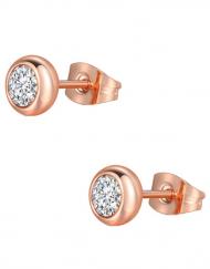 boucles d'oreille or dore plaque or or fin zirconium puce bijou fantaisie simple casual tadoupika