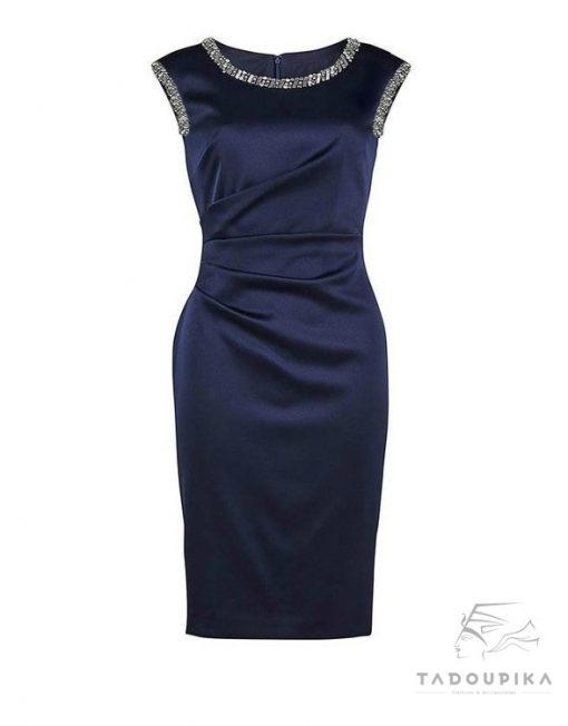 robe de cocktail strass glitter crystal rihnestones sur mesure satin mode femme custom size sur mesure france pencil dresstadoupika