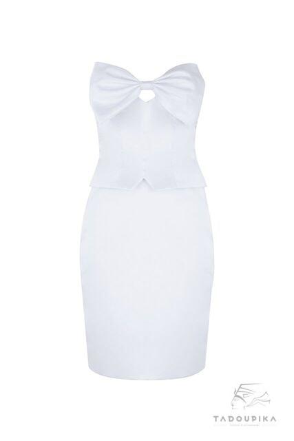 robe bustier british english mode fashion london french inspiration mode france plus size custom white cocktail dress siz