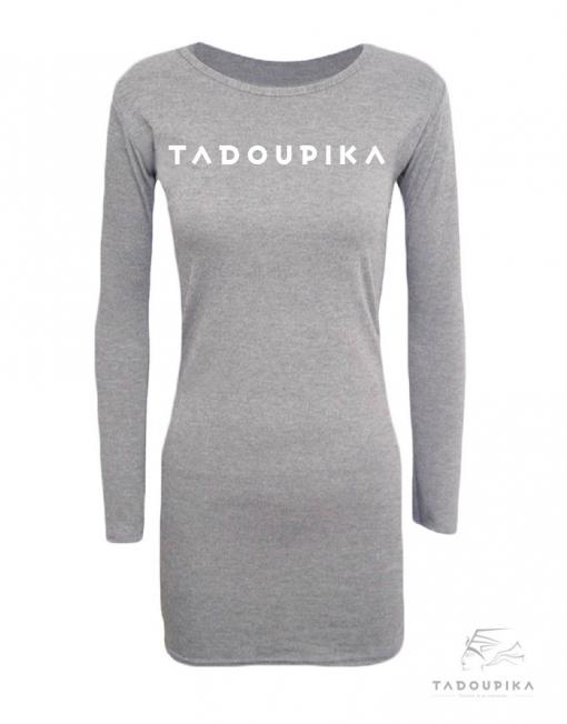 robe ville sport spotwear casual plus size all size grey gris fashion outfit tadoupika