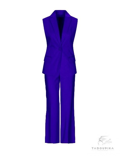tailleur-bleu-roi-pantalon veste ensemble set mode fashion blog paris tadoupika