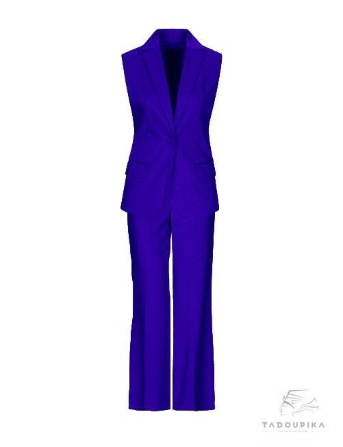 tailleur-bleu-roi-pantalon veste ensemble set mode fashion blog paris tadoupika