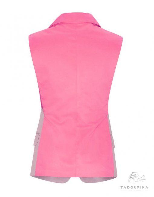 veste de tailleur rose elegant france sur mesure blog fashion plus size grane taille toute taille tadoupika