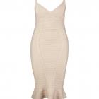 bandage dress pink light plus curvy all size women dress