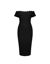 robe bandage glamour sexy gaine slim skinny dress body red cocktail dress france curvy black dress tadoupika
