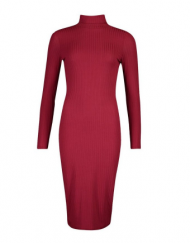 robe pull mnches longue midi longue curv toutes les tailles mode femme france europe wine red dress ck tadoupika