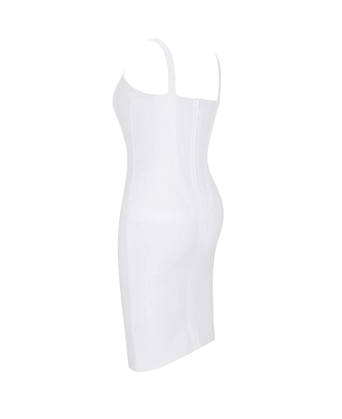robr bandage blanche strap mini gaine bodycon elegant