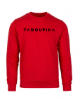 sweat rouge logo noir sport sportwear bio made in france tadoupika