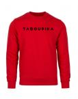 sweat rouge logo noir sport sportwear bio made in france tadoupika