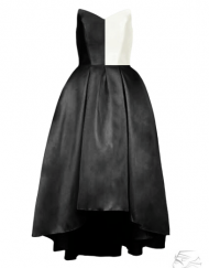 robe bustier noir cocktail bal ceremonie miss demoiselle plus size sur mesure france tadoupika monochrome