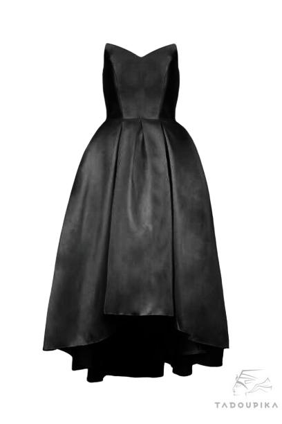 robe bustier noir cocktail bal ceremonie miss demoiselle plus size sur mesure france tadoupika