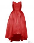 robe de cocktail rouge coquelicot red amour love glamour asymetrique robe sur mesure demoiselle d honneur bal danse gala tadoupika