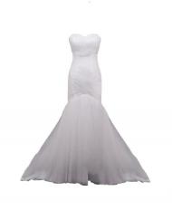 robe bustier beige blanc ivory ivoire tulle weave croisé trumpet mermaid sur mesure mode curvy plus sie sur mesure mariage wedding champagne